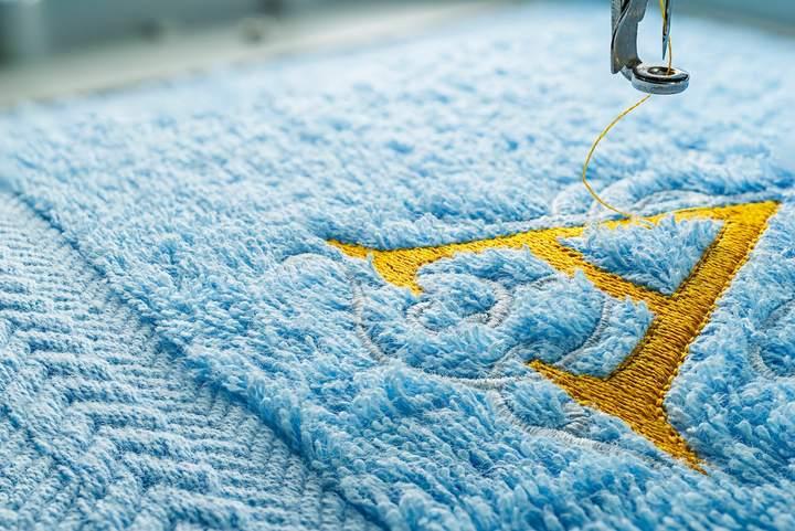 Sélection de textile de qualité avec  broderie personnalisée